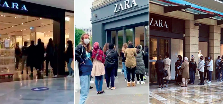 Zara reopening