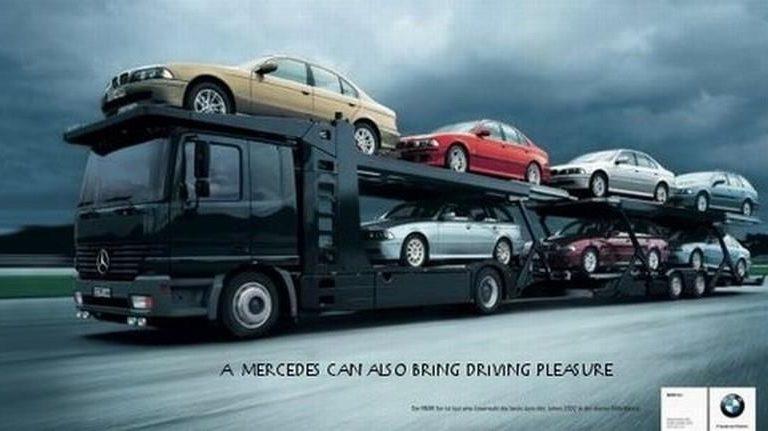 Merceds carting BMW