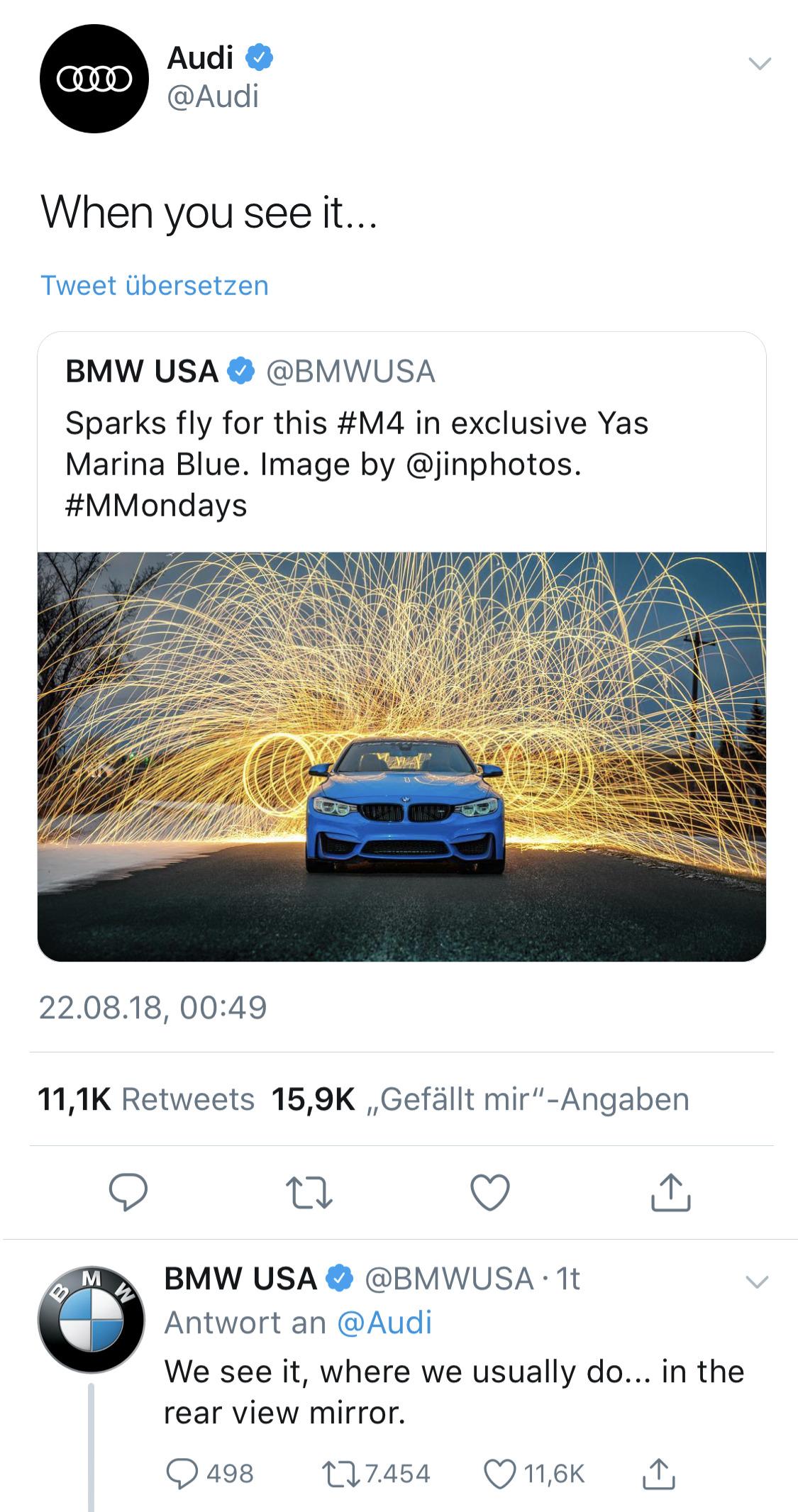 BMW vs Audi Twitter