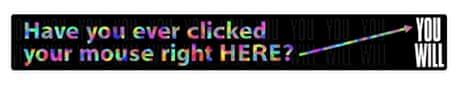 The first clickable banner ad