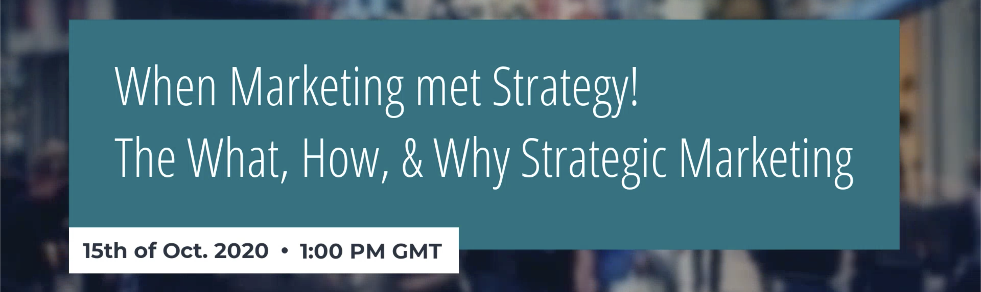 When marketing met strategy